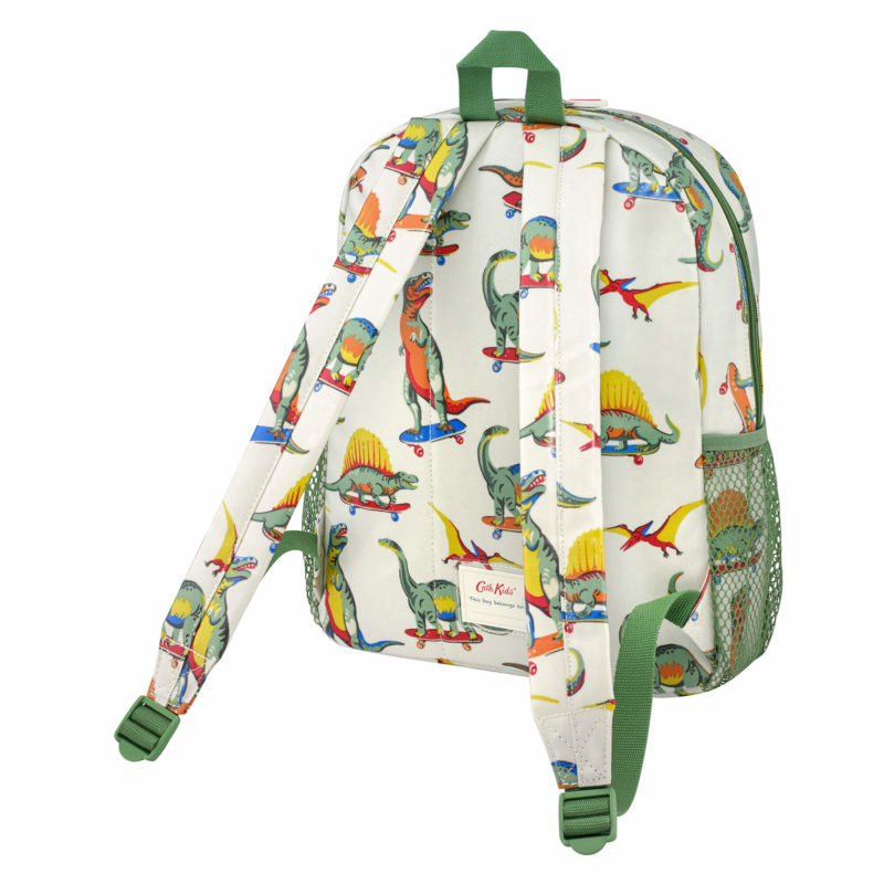 Cath Kidston Skateboard Dino Classic Large Rucksack with Mesh Pocket