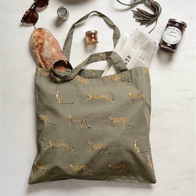 Sophie Allport Cheetah Folding Shopping Bag
