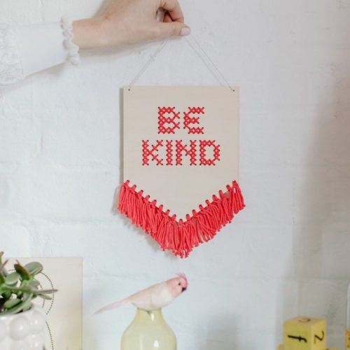 Be Kind Tasseled Embroidery Board Kit