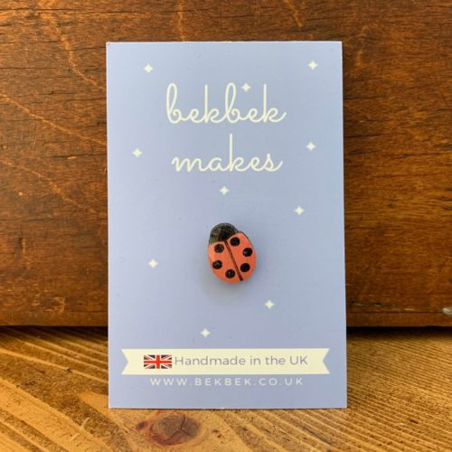 Bekbek Makes Ladybird Small Pin Badge