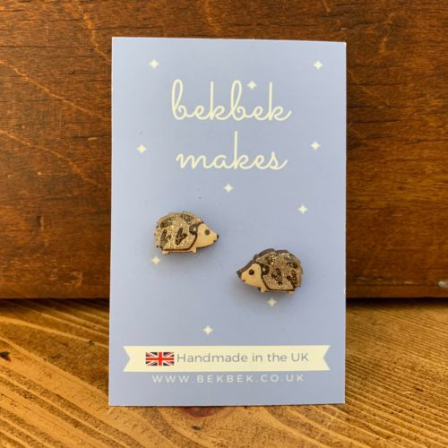 Bekbek Makes Hedgehog Earrings