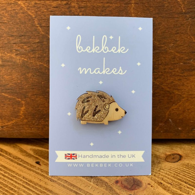 Bekbek Makes Hedgehog Pin Badge