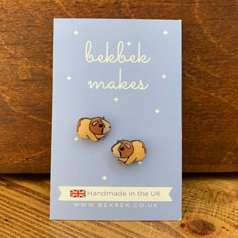 Bekbek Makes Guinea Pig Earrings