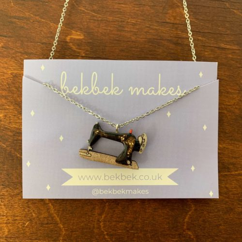 Bekbek Makes Sewing Machine Necklace