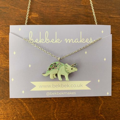 Bekbek Makes Triceratops Necklace