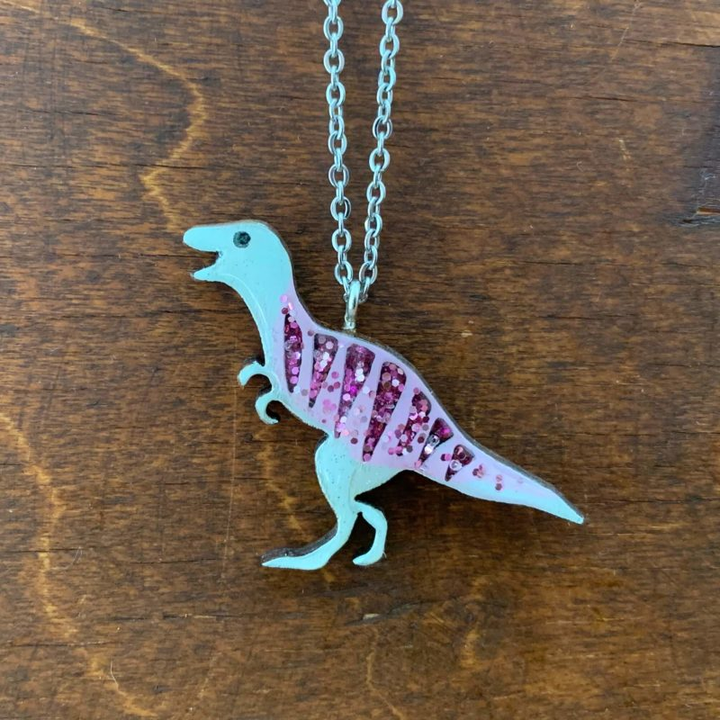 Bekbek Makes T-Rex Necklace