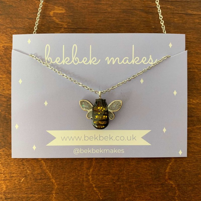 Bekbek Makes Bee Necklace