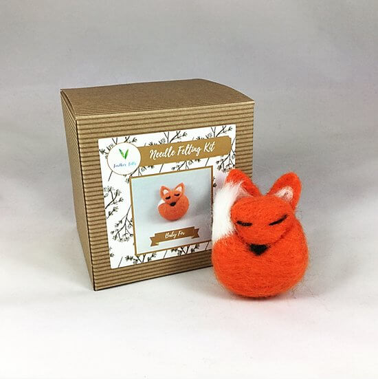 Baby Fox Needle Felting Kit