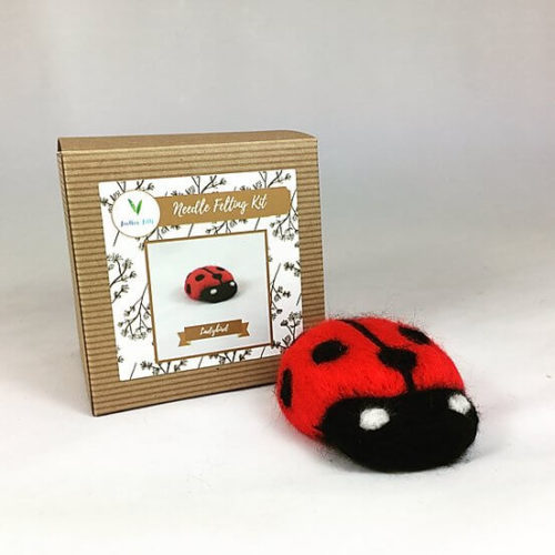 Ladybird Needle Felting Kit