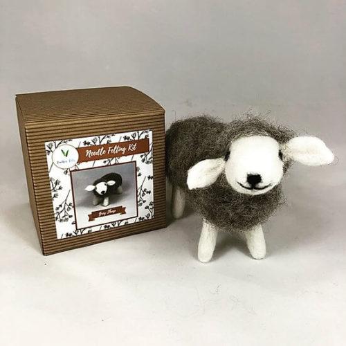 Grey Sheep Needle Felting Kit