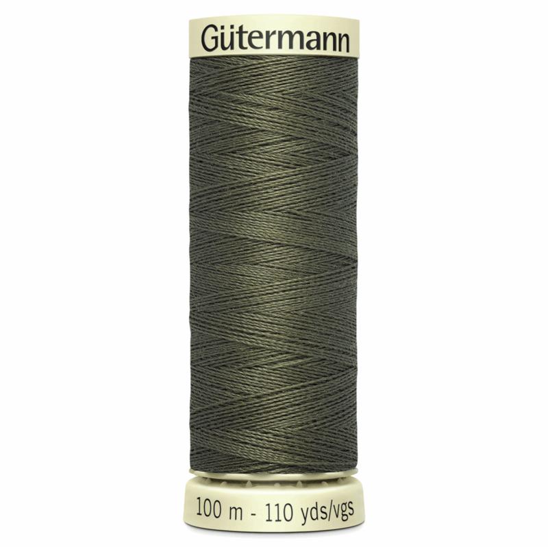 Gütermann Sew-All Thread: 100m: Dark Khaki 676