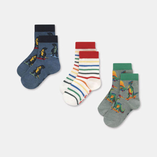 Cath Kidston Kids Socks 3 Pack Skateboard Dino: 7-10yrs