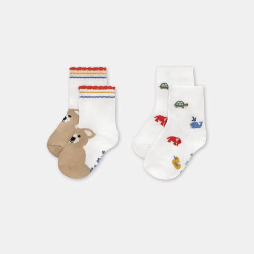 Cath Kidston Baby Socks 2 Pack Nursery Animals: 12-24 months