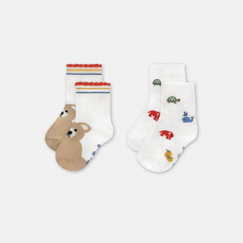 Cath Kidston Baby Socks 2 Pack Nursery Animals: 12-24 months