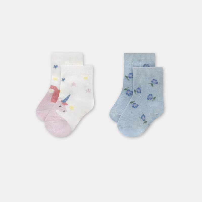 Cath Kidston Baby Socks 2 Pack Unicorn Meadow: 12-24 months
