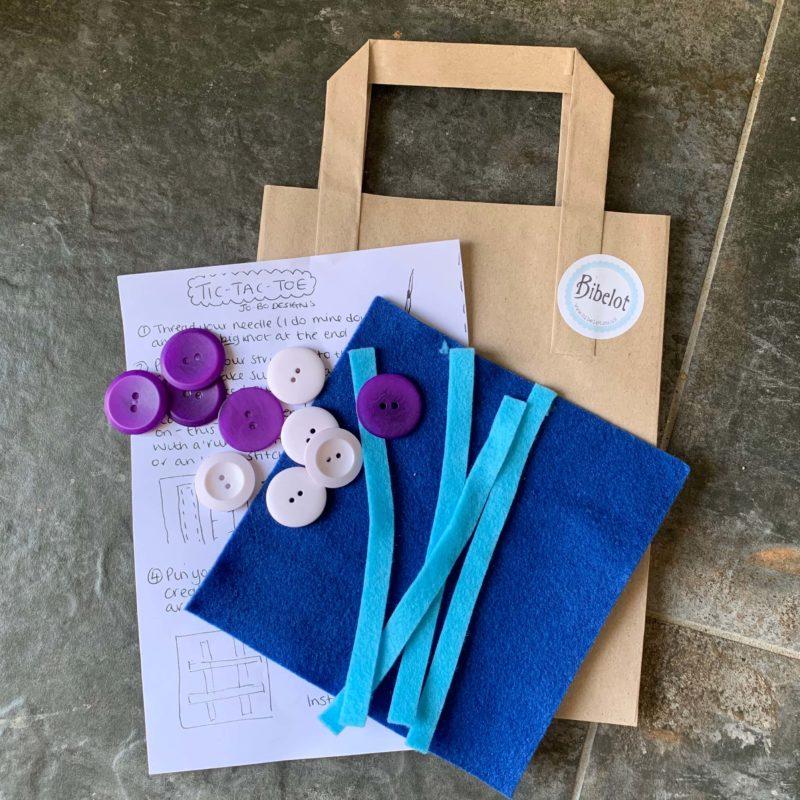 Tic Tac Toe Craft Kit - Blue/Blue