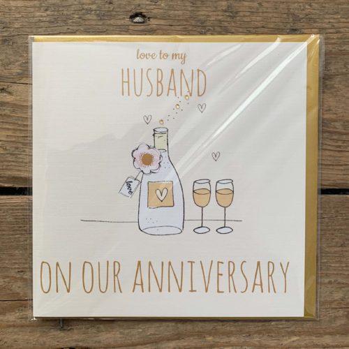 Love to My Husband Anniversary Card