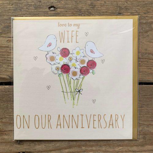 Love to My Wife Anniversary Card