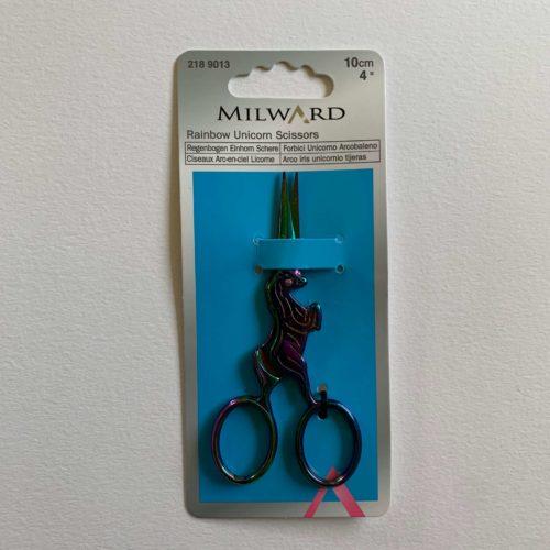 Embroidery Scissors: 10cm/4in: Unicorn: Rainbow