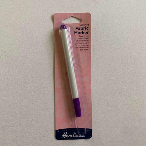 Pen: Fabric Marker: Vanishing