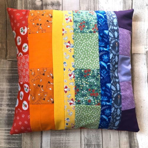 Rainbow Patchwork Cushion Cover Craft Kit