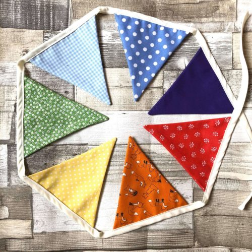 Rainbow Cotton Bunting Craft Kit
