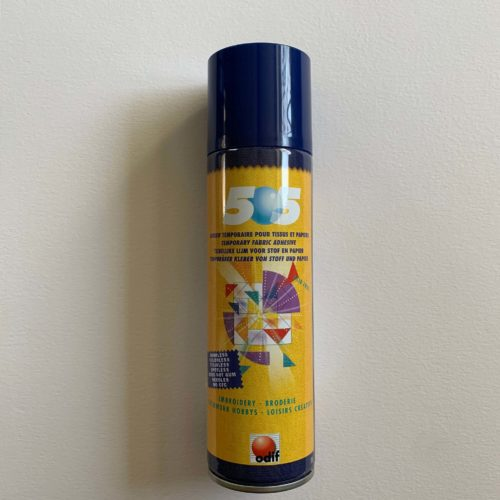 Temporary fabric adhesive: 505