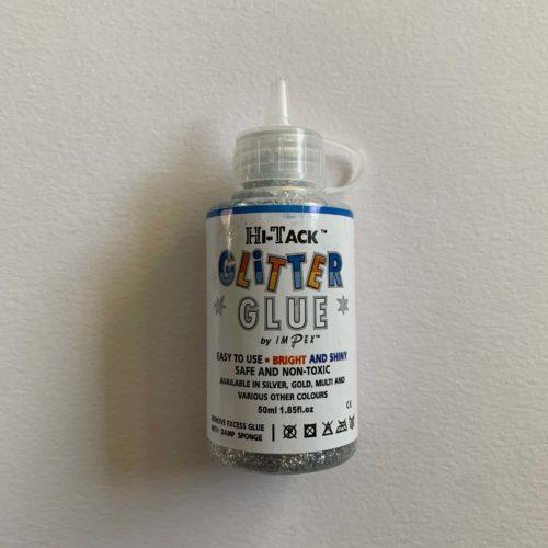 Hi-Tack Glitter Glue: Silver: 50ml