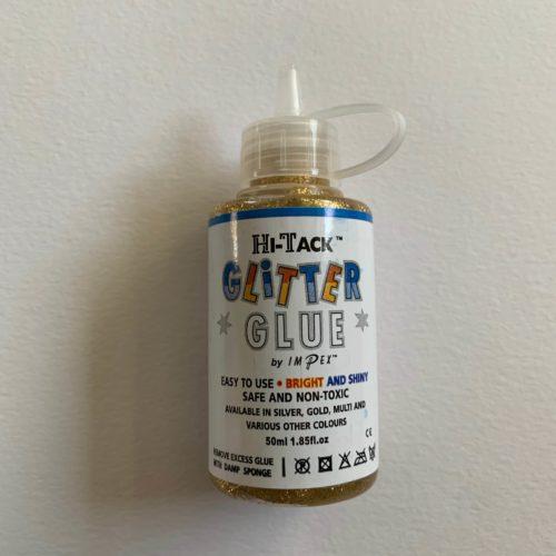 Hi-Tack Glitter Glue: Gold: 50ml