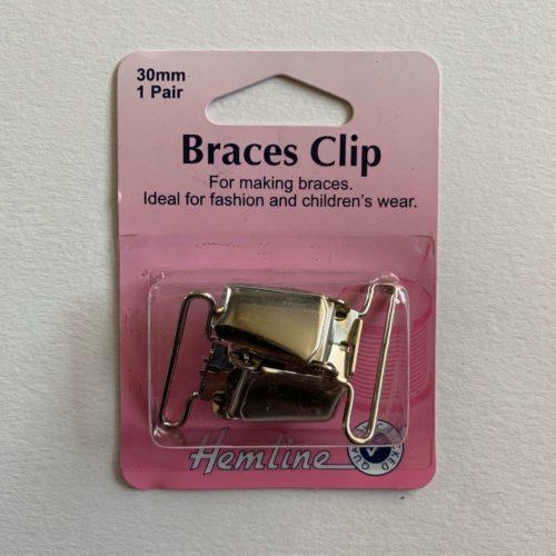 Braces Clip: 30mm: Nickel: 2 Pieces