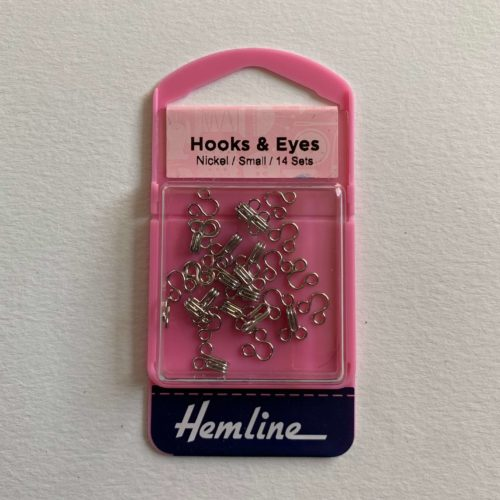 Hooks and Eyes: Nickel: Size 1 Small