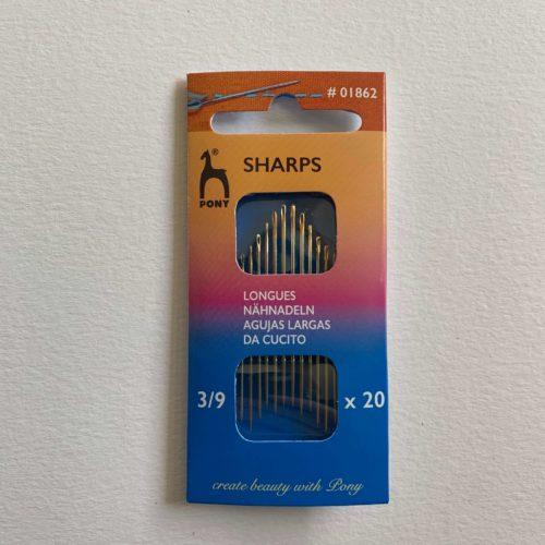 Hand Sewing Needles: Sharps: Gold Eye: Sizes 3-9
