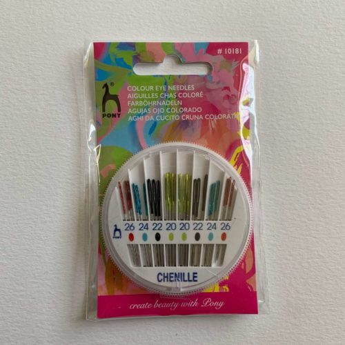 Hand Sewing Needles: Chenille: Coloured-Coded Eye