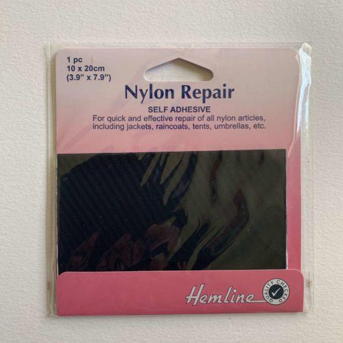Self Adhesive Nylon Repair Patch: Navy - 10 x 20cm