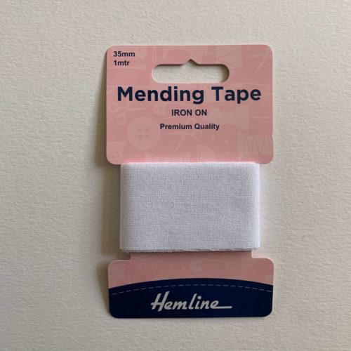 Iron-On Mending Tape: White - 100cm x 38mm