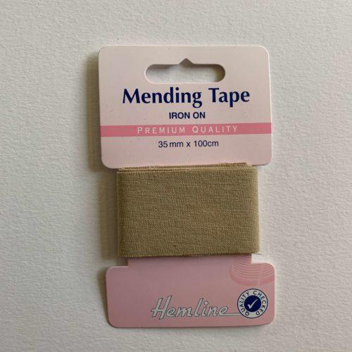 Iron-On Mending Tape: Beige - 100cm x 38mm
