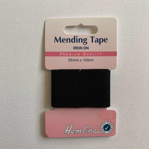 Iron-On Mending Tape: Black - 100cm x 38mm