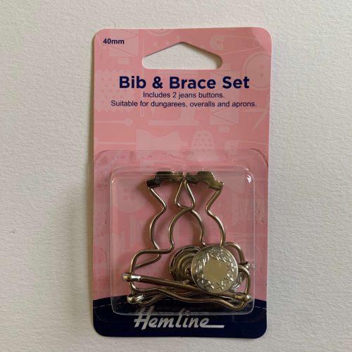 Bib and Brace Set: 40mm: Nickel: 2 Pieces