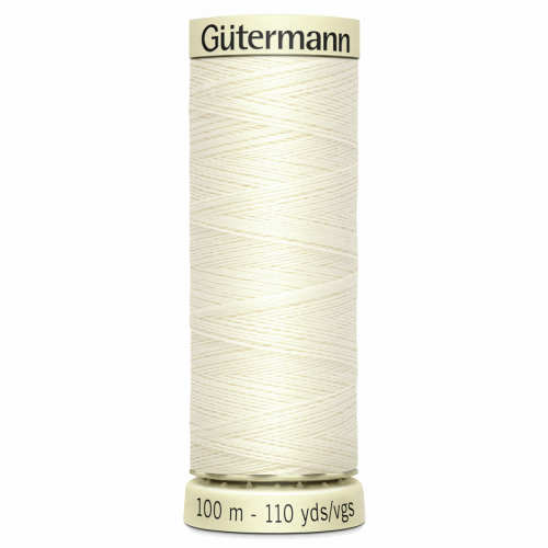 Gütermann Sew-All Thread: 100m: Cream 1