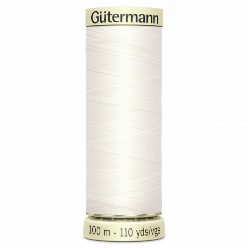 Gütermann Sew-All Thread: 100m: Off White 111