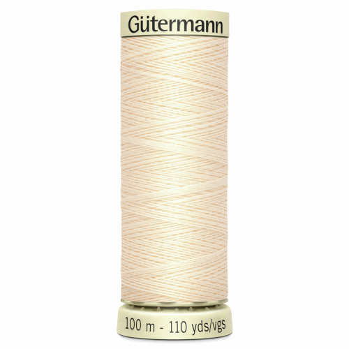 Gütermann Sew-All Thread: 100m: Cream 414