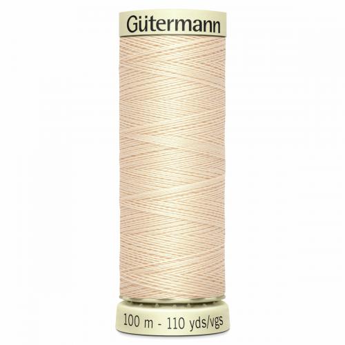 Gütermann Sew-All Thread: 100m: Cream 5