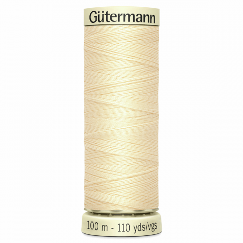 Gütermann Sew-All Thread: 100m: Cream 610