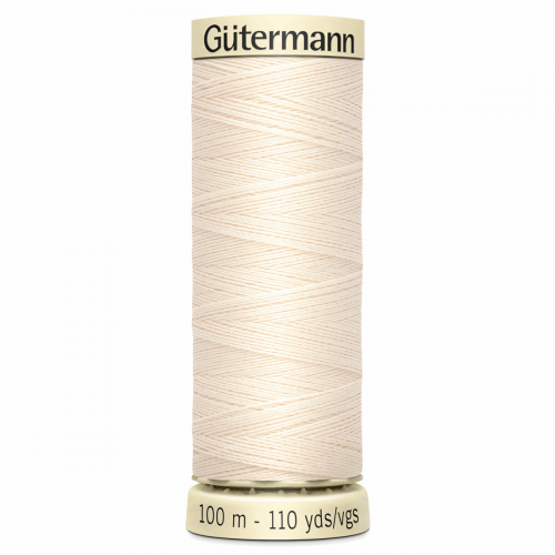 Gütermann Sew-All Thread: 100m: Cream 802