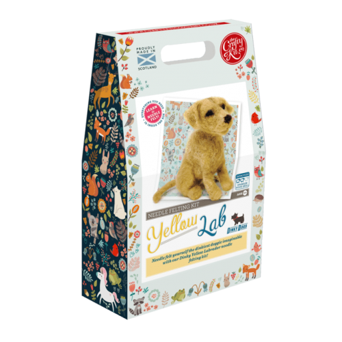 Yellow Labrador Needle Felting Kit