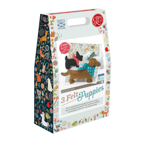 3 Felt Puppies Sewing Kit