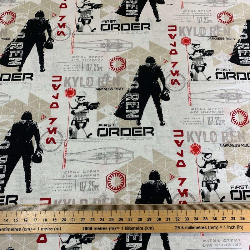 Star Wars First Order Cotton Fabric - £9 per metre