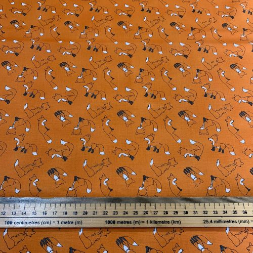 Michael Miller Curiosity Hidden Foxes Shell - £15 per metre
