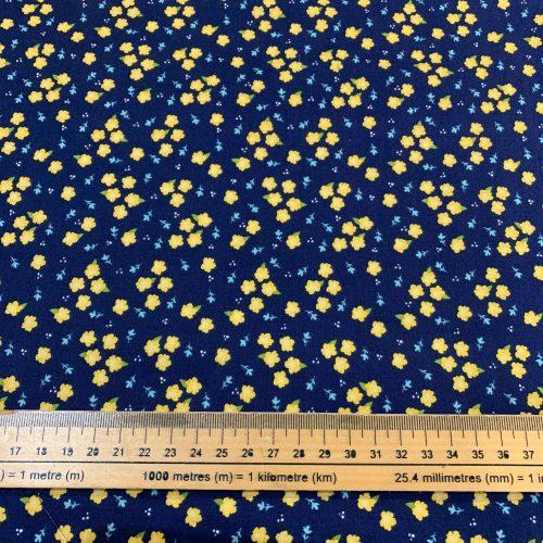 Riley Blake Azure Skies Floral Navy - £15 per metre