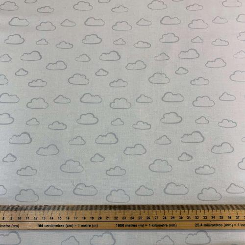 Rainbow Etchings White by Stuart Hillard Cotton Fabric - £9 per metre